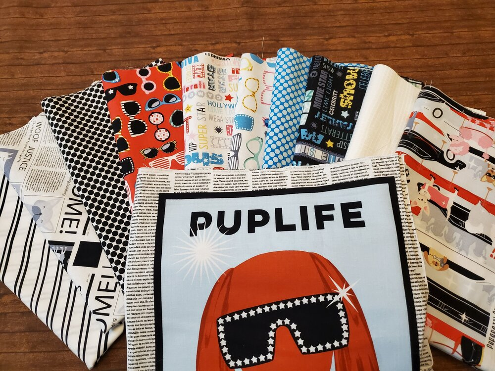 Puparazzi Pups by Mark McKeown for Studio E. - 10 Piece Half Yard + PANEL Bundle Pack