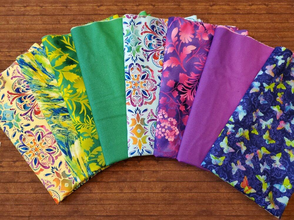 Butterfly Paradise by Elizabeth Isles for Studio E Fabrics - 8 Piece Half Yard Bundle Pack