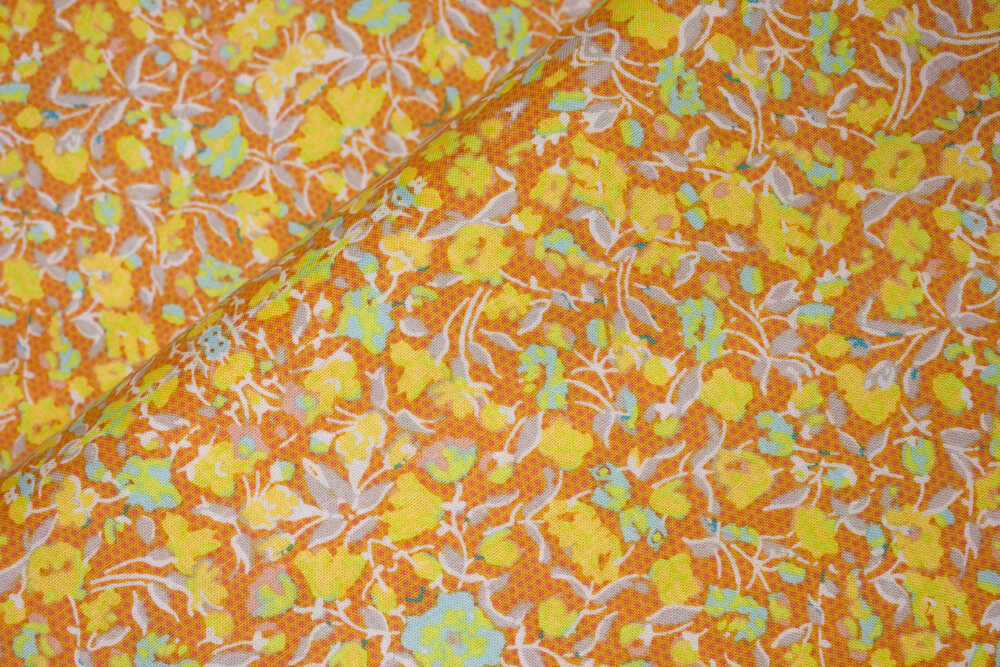 Floral Kaleidoscope on Orange--Sundance for Riley Blake Designs