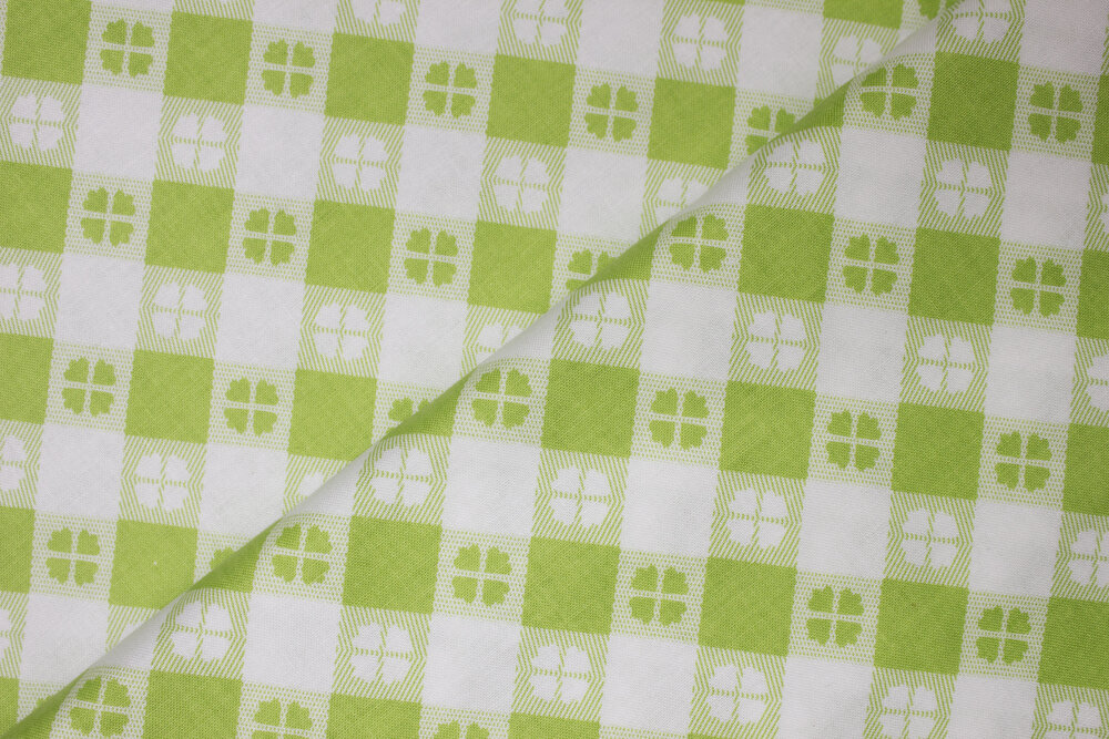 Lime & White Flowers in Reverse in Squares - Glamper-licious by Samantha Walker for Riley Blake