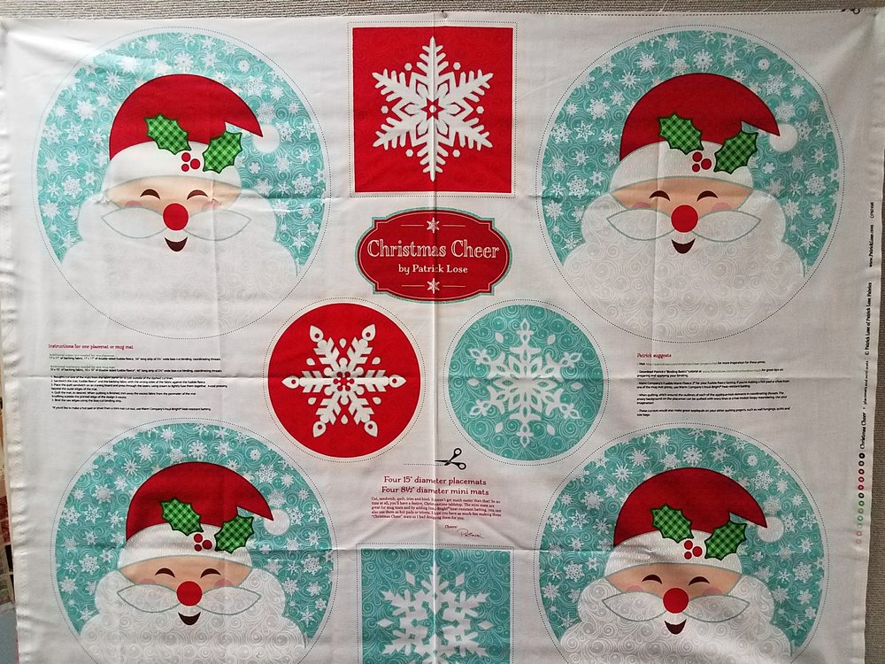 Christmas Cheer Mini Mats and Placemats Panel by Patrick Lose