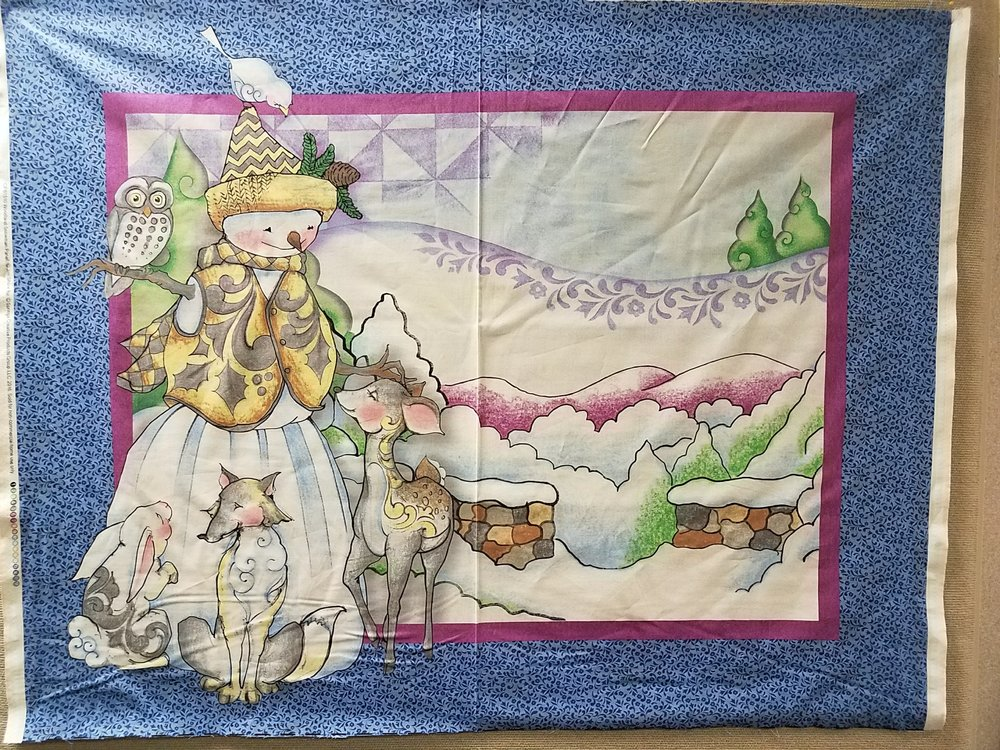 Woodland Snowman Panel by Jim Shore for Spring Creative