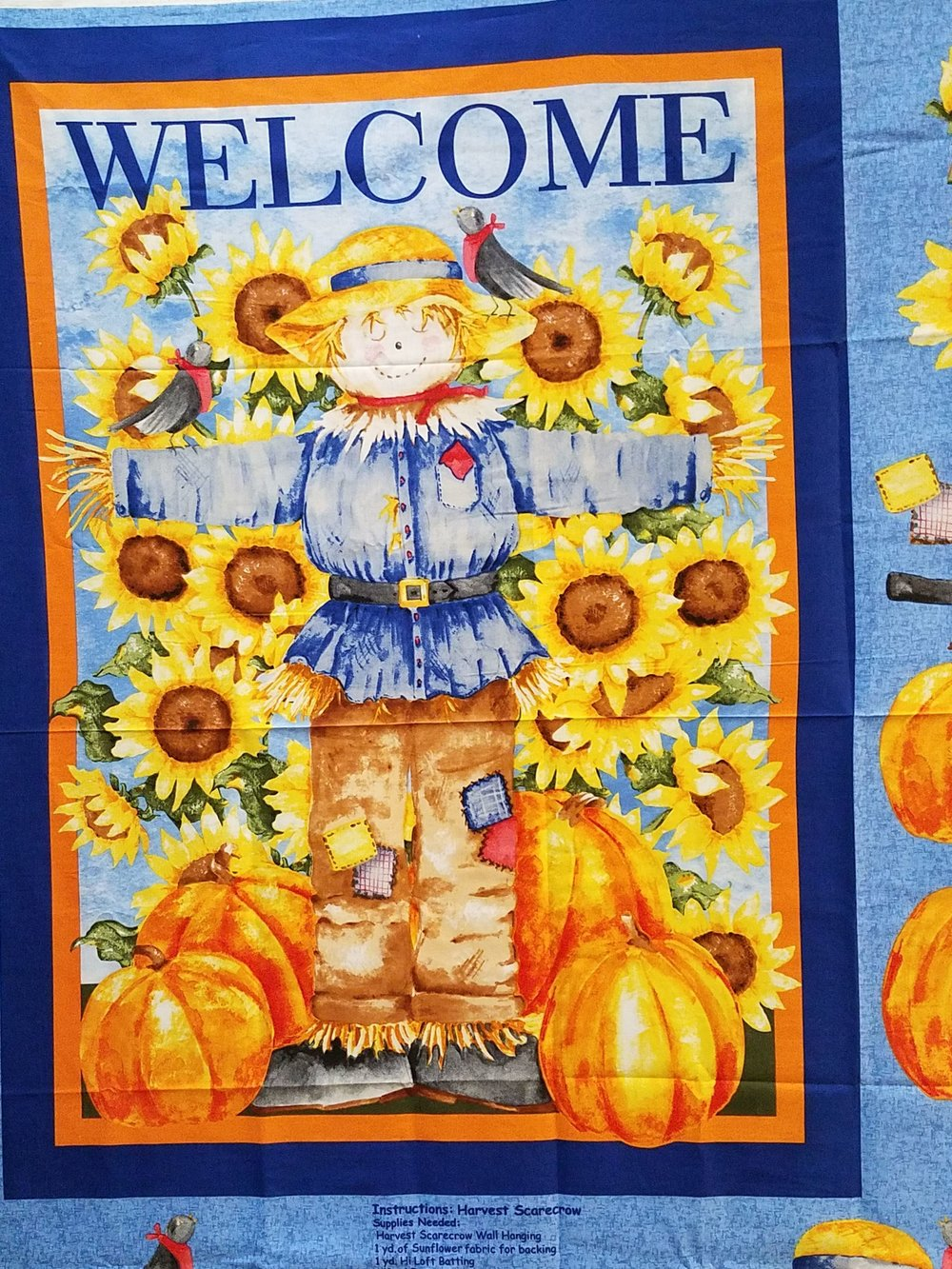 Scarecrow Wallhanging Panel by Kathy Hatch for Concord