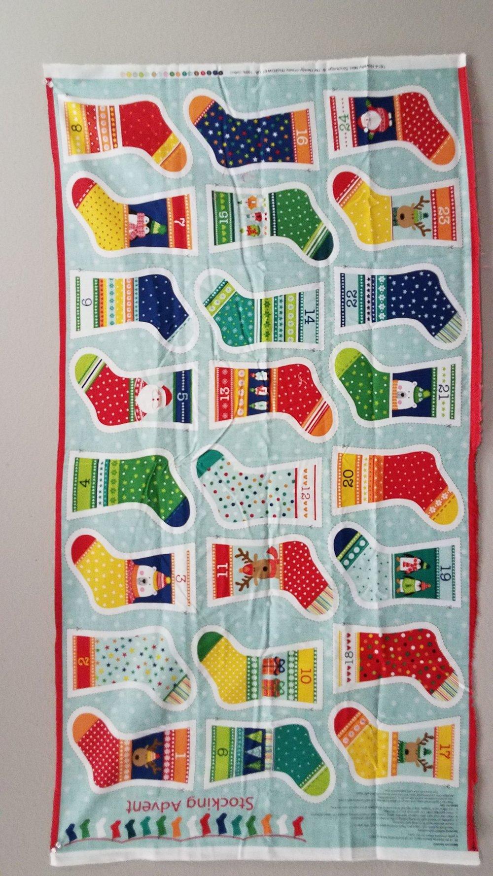 Stocking Advent - Mini Stocking Calendar - Panel by the Henley Studio for Makower UK