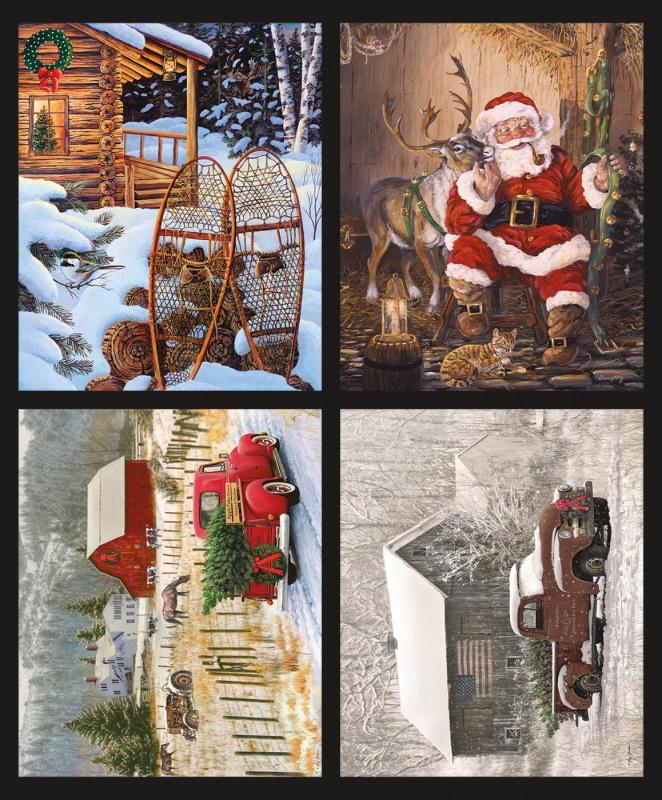 Christmas Memories: Four Part Pillow Panel by Riley Blake Fabrics