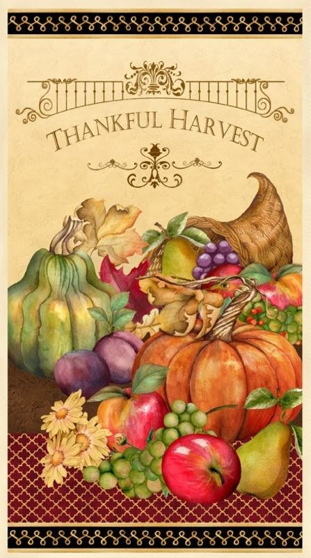 Thankful Harvest Quilt Panel by Nancy Mink for Wilmington Prints