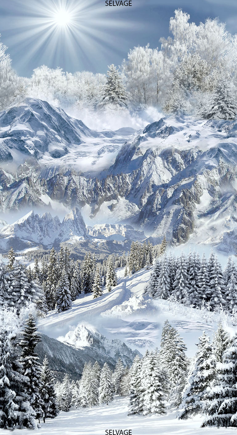 Snowy Mountain Trail by Timeless Treasures