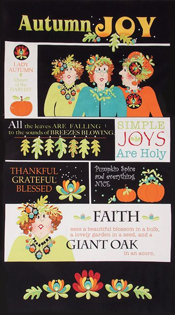 Autumn Joy by Jody Houghton for Connecting Threads