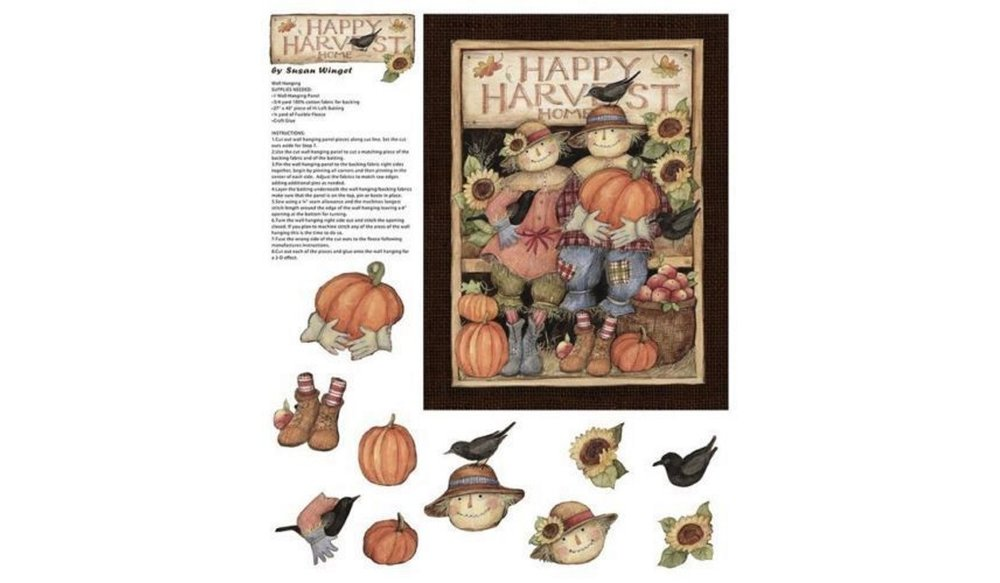 Harvest Couple Door Panel by Susan Winget for Concord Prints