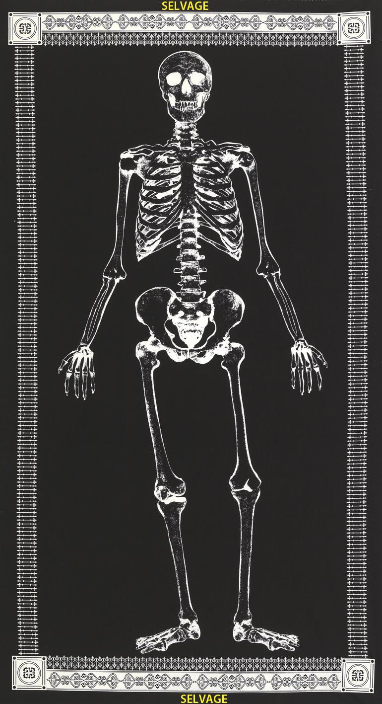 Mr. Bones Glow in the Dark Panel by Timeless Treasures