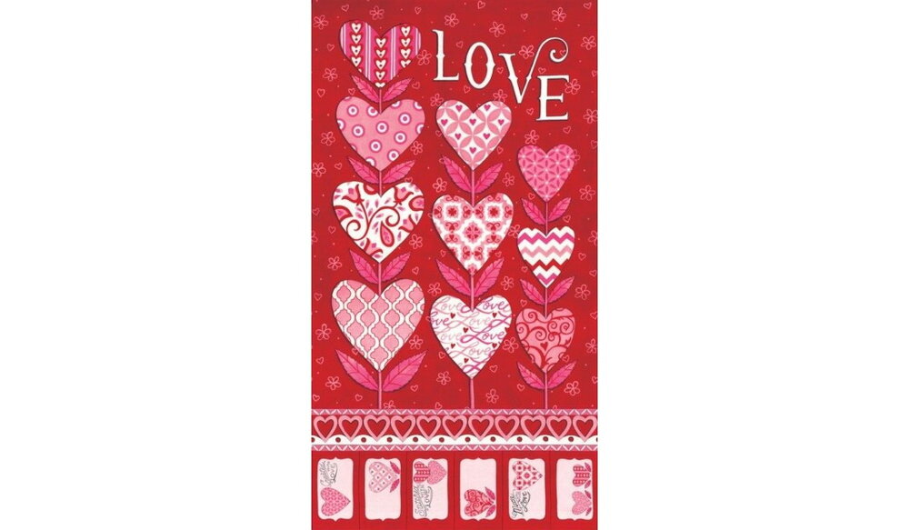 Love Grows  (Valentine's Day) Quilt Panel by Deb Strain for MODA