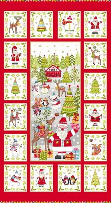 Festive 2019 Christmas Panel by Makower UK