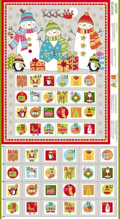 Festive Advent Calendar Panel by Andover Fabrics
