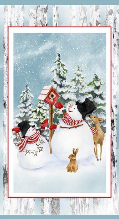 Snow Days Snowman Panel by Henry Glass & Co.