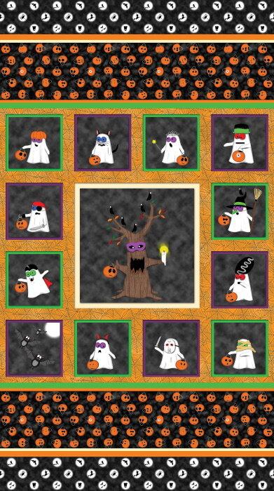 Booooville Halloween Panel by Matthew Pridemore for Benartex