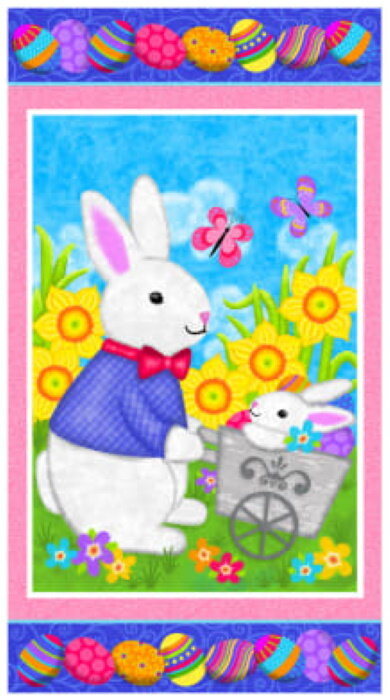 Hello Spring Easter Panel by Sharla Fults for Studio E Fabrics