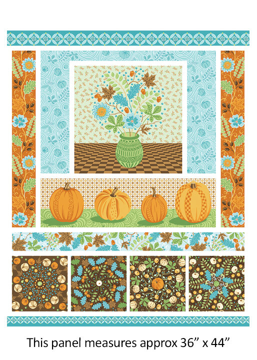 Thankful Harvest Panel by Amanda Murphy for Contempo Fabrics