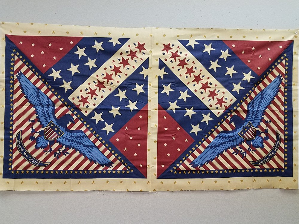 American Patriotic 2 pack Quilts of Valor Pillow Panel
