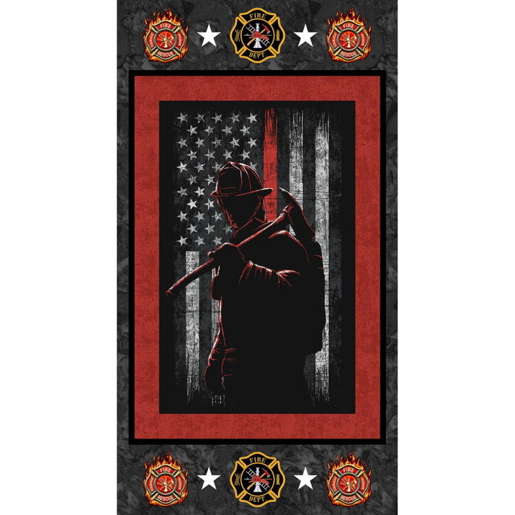 Firefighter Panel by Sykel Fabrics