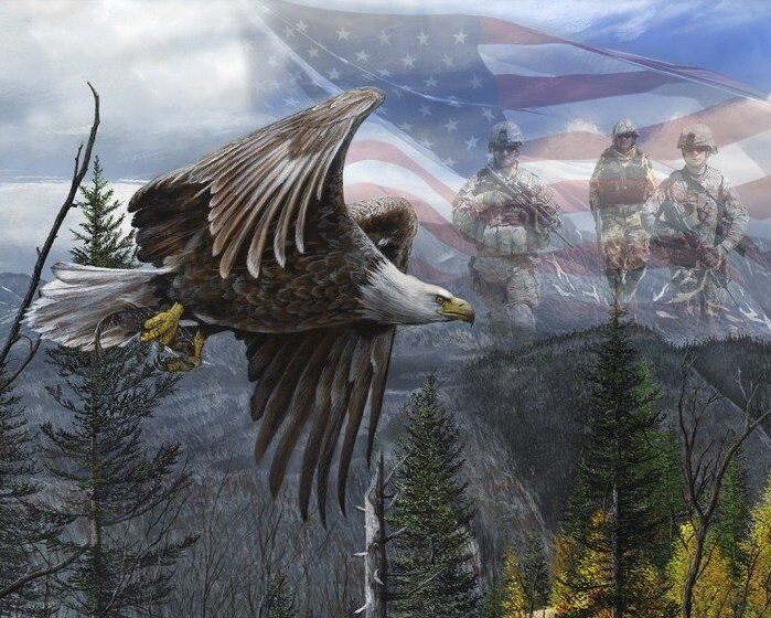 Like An Eagle - Patriotic Panel by Wild Wings for David Textiles