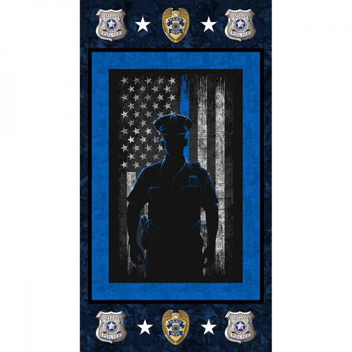 Police Panel by Sykel Fabrics