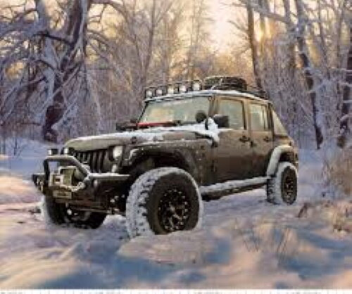 Jeep in the Snow - by Riley Blake