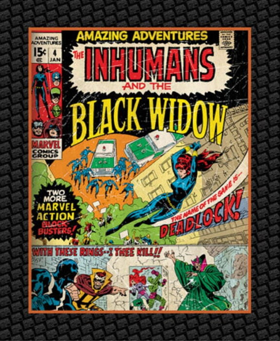 Inhumans and Black Widows by Marvel for Camelot Fabrics