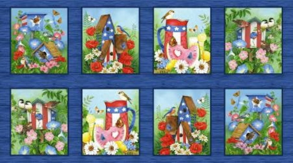 America the Beautiful in Blocks Panel by Henry Glass