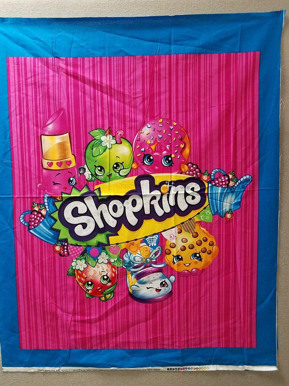 Shopkins Quilt Panel