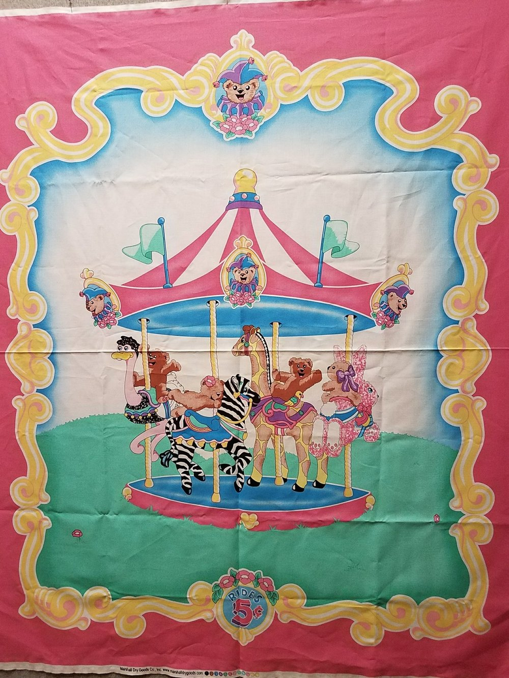 Carousel Baby Quilt Panel