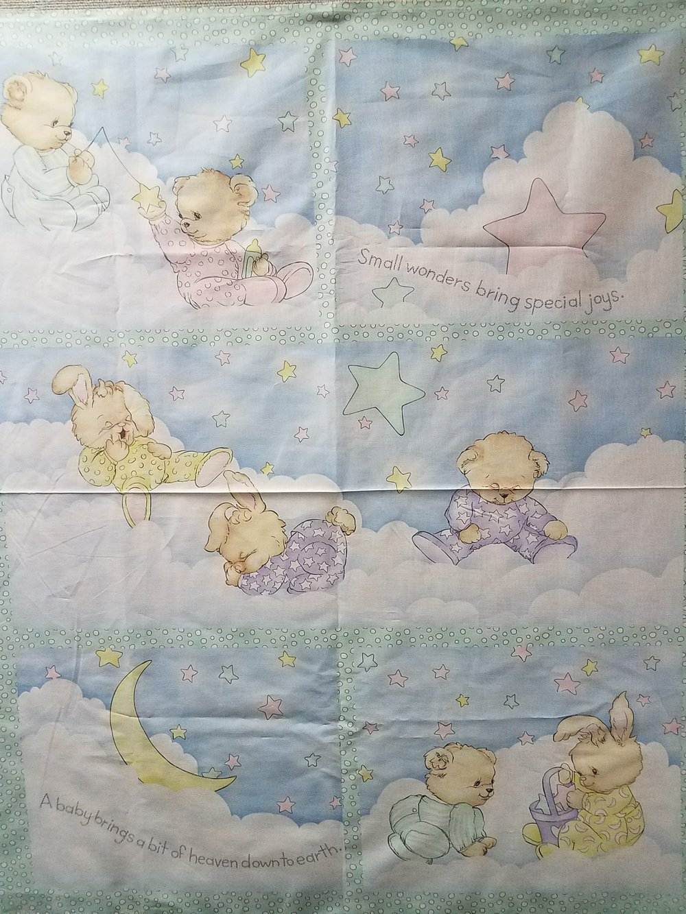 PJ Friends Baby Quilt Panel