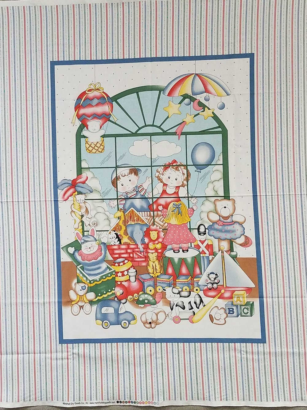 Kids Gazing in Toy Store Quilt Panel