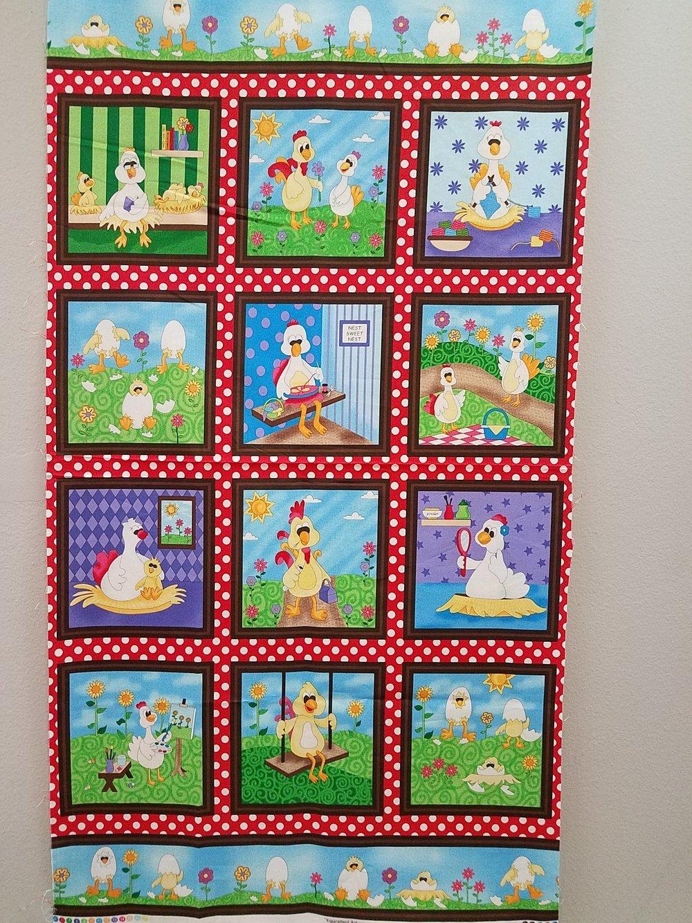 Eggcellent Adventures Panel by Heidi Pridemore for Fabri-Quilt