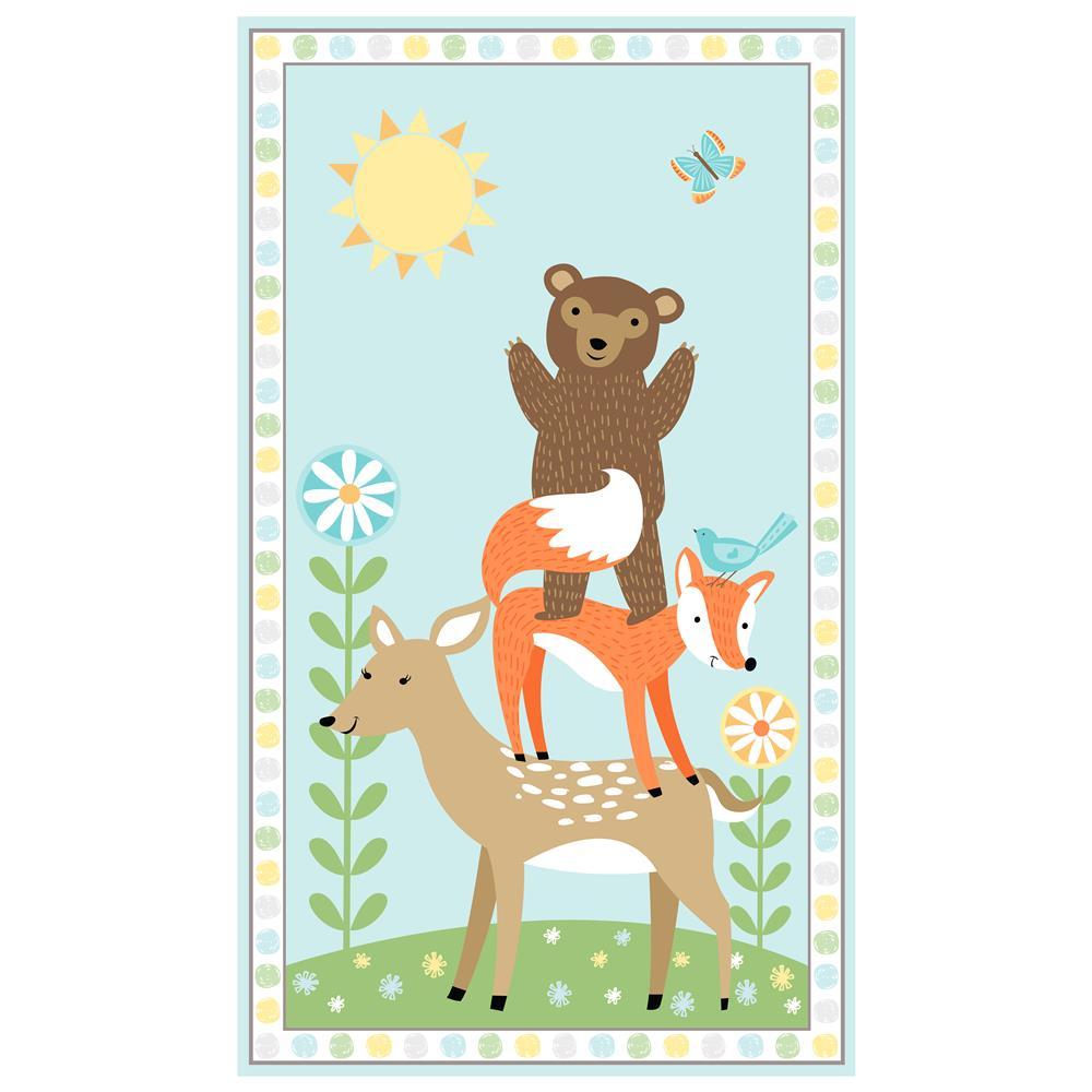Sweet Meadow Flannel Quilt Panel by Arrolynn Weiderhold for Wilmington Prints