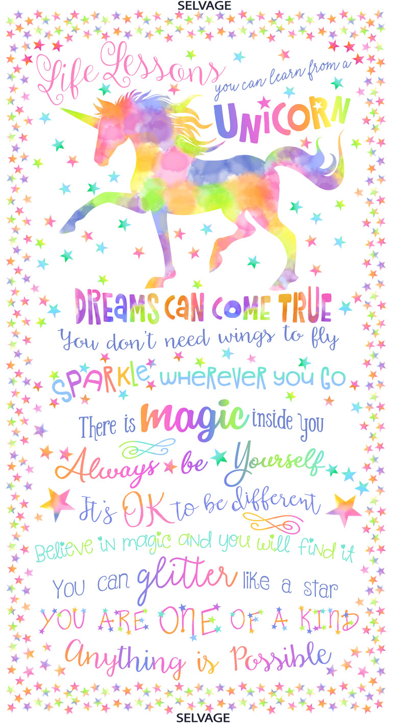 Unicorn Life Lessons by Timeless Treasures