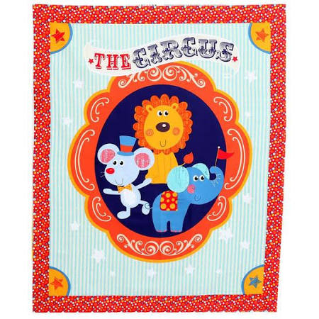 The Circus Lion by David Textiles