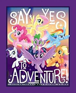 My Little Pony - Yes to Adventure - Quilt Panel by Springs Creative