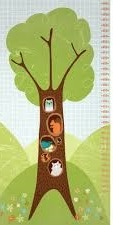 Wonderful Woodlands Growth Chart for Children by Arrolynn Weiderhold for Wilmington Prints