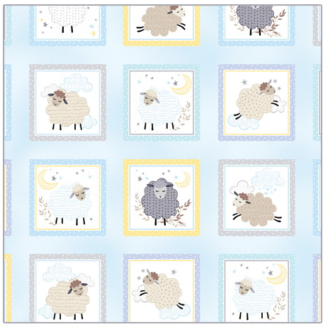 Sweet Dreams in Boxes on Baby Blue Baby Panel by Kanvas Studio