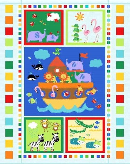 Colorful Noah's Ark Panel