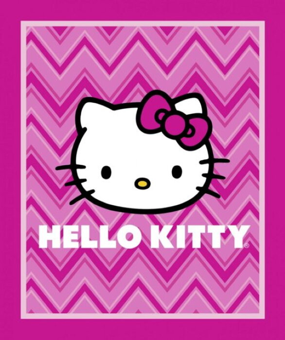 Hello Kitty Chevron Quilt Panel by Springs Creative