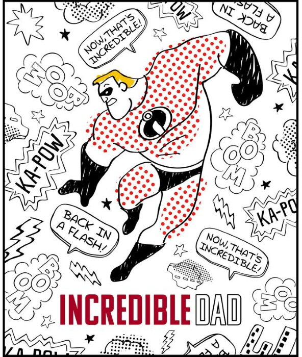 The Incredibles Coloring Panel by Disney Pixar for Camelot Fabrics