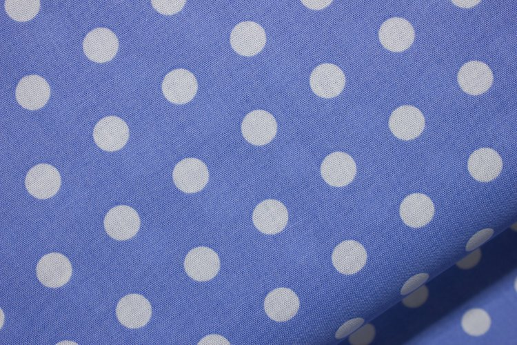 White Polka-Dots on Color