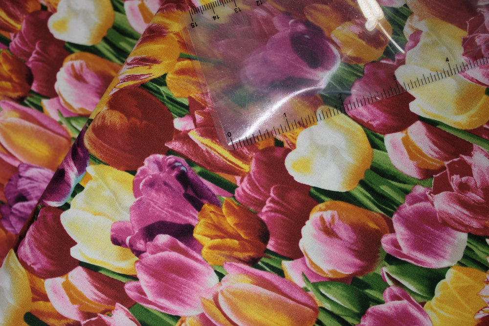 SPECIALTY FABRICS ROOM: Packed Tulips for Tulip Farm Panel Coordinate by Timeless Treasurses