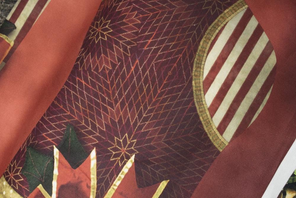 SPECIALTY FABRICS ROOM: Fat Quarter Yard for Santa Panel for Hoffman