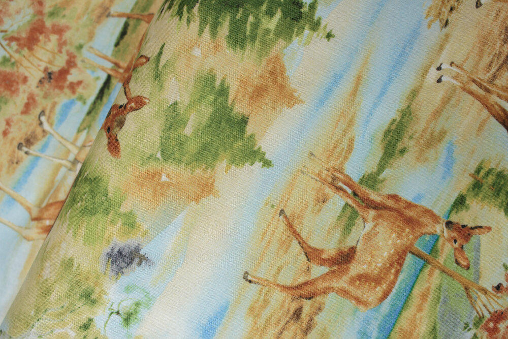 SPECIALTY FABRICS ROOM: Deer Meadow Yardage: Coordinate for Deer Meadow Panel by Cynthia Coulter for Wilmington Prints