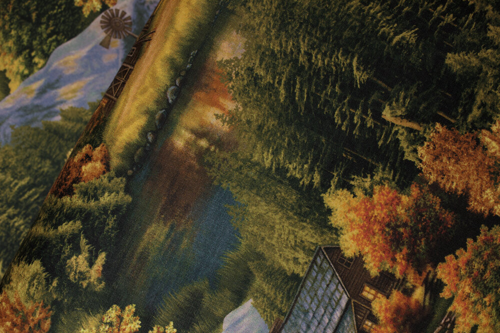 SPECIALTY FABRICS ROOM: Nature Scene: Coordinate for Serene Lake Panel by Timeless Treasures