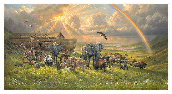 Noah's Ark Digital Panel for Elizabeth's Studio