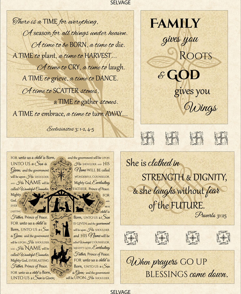 Anniversary Prayer by Wing and a Prayer Designs for Timeless Treasures