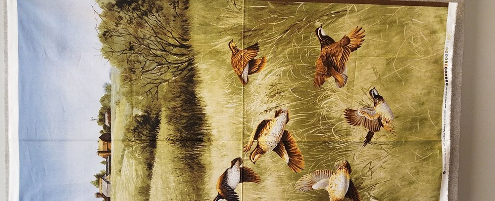 Quail Quilt Panel by Suite 1500 for Andover Fabrics